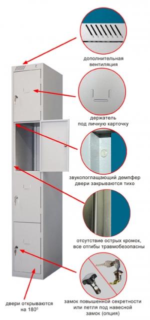 Шкаф металлический для сумок ШРС-14-300 купить на выгодных условиях в Калининграде