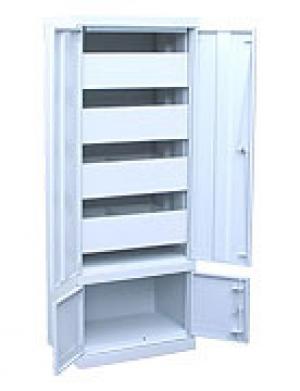 Шкаф металлический картотечный ШК-4-Д4